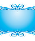 Water splashes. Symmetric background with water splashes Stock Photos