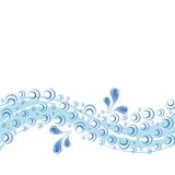 Water splashes and bubbles. Water splashes with wavy lines and bubbles Stock Photo
