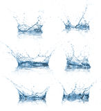 Water splashes collection Stock Photos