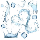 Water splashes collection Stock Photography