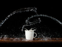 Water splashes Stock Photo