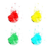 Water splashes of different colors Stock Image