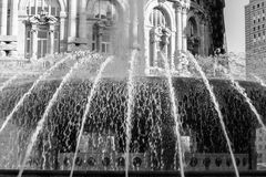 Water splashes from fountain. Stock Photos