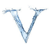 Water splashes letter Stock Images