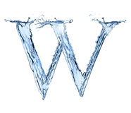 Water splashes letter Stock Photos