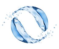 Water splashes in motion isolated on white background.  Stock Photography