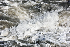 Water splashes of mountain river Royalty Free Stock Photos
