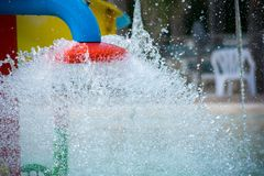 Water Splashes at the Water Park royalty free stock photography