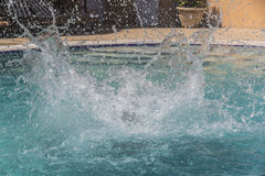 Water splashes in the swimming pool. Close view of the water splashes in the swimming pool Royalty Free Stock Photos