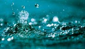 Water splashing. Closeup, stop action of water droplets splashing royalty free stock image