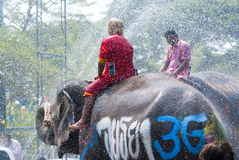 Water Splashing Festival in Thailand Royalty Free Stock Images
