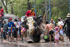 Water Splashing Festival in Thailand Royalty Free Stock Photos