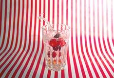 Water Splashing in Glass Royalty Free Stock Photos