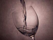 Water Splashing in Glass Royalty Free Stock Photo