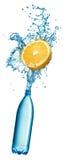 Water splashing over orange Stock Image