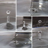 Water splashing and ripple. Water drop splashing and ripple collection, close up image stock photo
