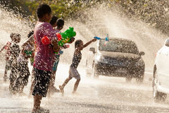 Water Splashing in Songkran Festival Stock Image