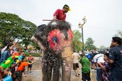 Water Splashing or Songkran Festival in Thailand Stock Photo