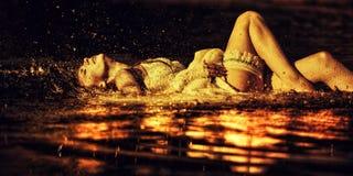 Water splashing Stock Images