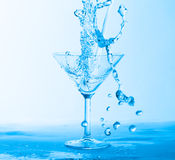 Water Splashing in a Wineglass Royalty Free Stock Images