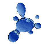 Water Splat - Fully Isolated Royalty Free Stock Photo