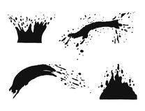 Free Water Splatter Vector Silhouette. Isolated Jet And Droplets Fly Royalty Free Stock Photo - 120421965