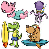 Water sport animal character Royalty Free Stock Photos