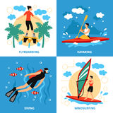Water Sport Concept Icons Set. Water Sport Concept. Water Sport Vector Illustration.Water Sport  Flat Icons Set. Water Sport Design Set.Water Sport  Isolated Royalty Free Stock Photo
