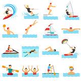 Water Sport Decorative Icons Stock Image