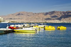 Water sport facilities in Eilat, Israel Stock Images