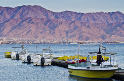 Water sport facilities at gulf of Eilat, Israel Stock Photography