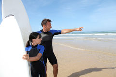Water sport in family Royalty Free Stock Photography