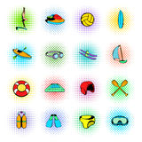 Water Sport Icons set Stock Images