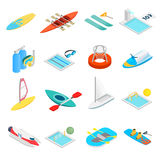 Water sport isometric 3d icons royalty free illustration