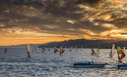Water sport and recreation activities near Eilat Royalty Free Stock Image