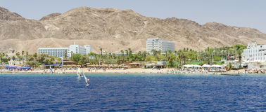 Water sport and recreation activities near Eilat Royalty Free Stock Photo