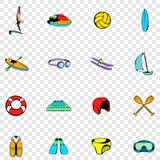 Water Sport set icons Stock Photos