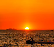 Water sport in the sunset Stock Image