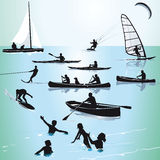 Water sport and swimming Stock Photography