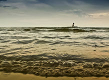 Water sport at windy weather, Baltic Sea Stock Images
