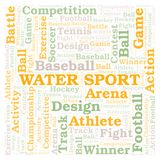 Water Sport word cloud. Wordcloud made with text only stock illustration