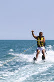 Water sports. Man doing warter sports in the sea Stock Photo