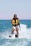 Water sports. Man doing water sports in the sea Stock Photography