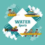 Water sports cartoon Royalty Free Stock Photography