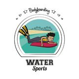 Water sports cartoon Stock Image