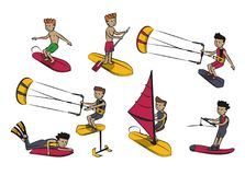 Water sports cartoons Stock Photos