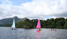 Water Sports on Derwent water. Stock Image