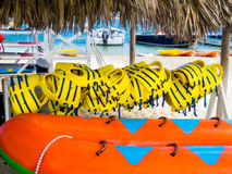 Water Sports Equipment Rental Hut in Jamaica Royalty Free Stock Images