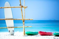 Water Sports Equipment By The Sea Stock Image