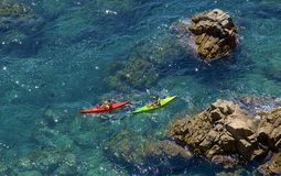 Water sports in Spain. Costa Brava Stock Images